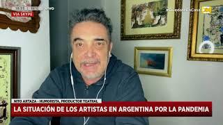 Crisis teatral: Nito Artaza pidió soluciones