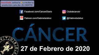 Horóscopo Diario - Cáncer - 27 de Febrero de 2020