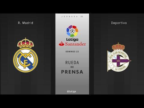 Rueda de prensa R. Madrid - Deportivo
