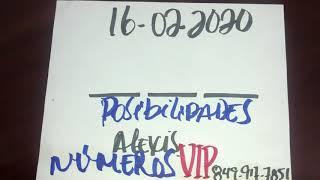 NÚMEROS FUERTE PARA HOY 16 DE FEBRERO DEL 2020 - PARA ROMPER BANCAS.