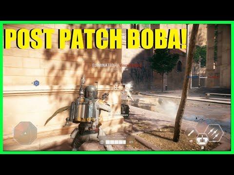 Star Wars Battlefront 2 - Huge nerf to Boba Fett! Is post patch Boba still good? (100+ eliminations)