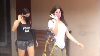 Mumbai: Sara Ali Khan और Janhvi Kapoor Gym बाहर किए गए स्पॉट - NDTVINDIA