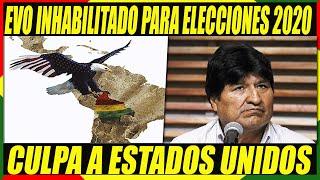 Evo Culpa a Estados Unidos Por Inhabilitación de Su Candidatura Como Senador Por Cochabamba