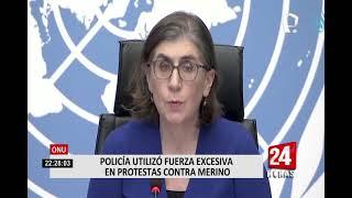 ONU sobre protestas contra Manuel Merino: Policía hizo uso innecesario y excesivo de la fuerza