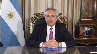 Alberto Fernández le habló al pueblo argentino en cadena nacional