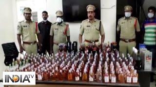 2 police constables caught for smuggling liquor illegally in AP - INDIATV