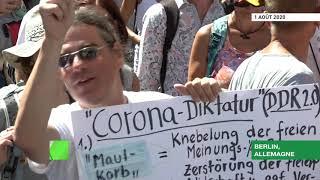«Bas les masques» : des milliers de manifestants à Berlin contre les restrictions liées au Covid-19