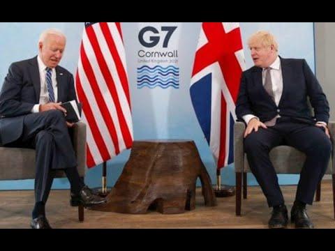 Presidente Biden llegó a Europa para reunión G7
