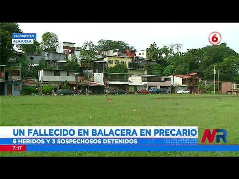 Un fallecido en balacera en Erizo de Alajuela