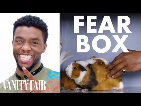 connectYoutube - Black Panther Cast Touches a Chameleon, a Guinea Pig, and Other Weird Stuff | Fear Box | Vanity Fair
