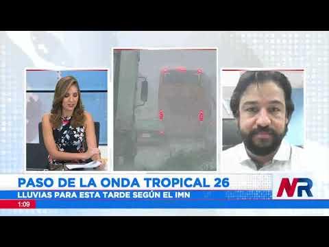 Onda tropical número 26 provoca lluvias desde este sábado y hasta mañana domingo