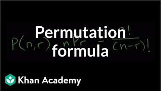 Permutation formula