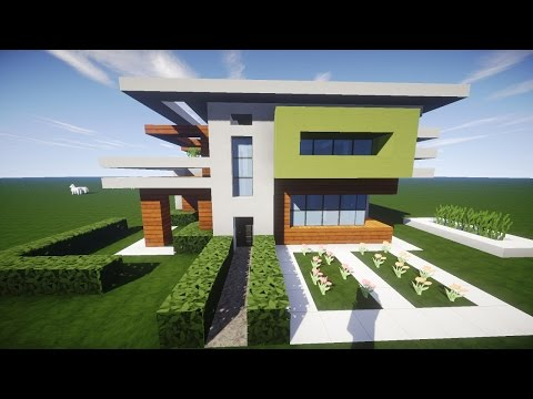Minecraft moderne luxus villa mit moderner einrichtung und for Minecraft modernes haus download 1 7 2