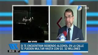 Aplicarán fuertes multas a los que ingieran alcohol en la vía pública
