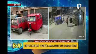 El Agustino: vecinos denuncian caos e inseguridad por malos ciudadanos extranjeros (2/2)