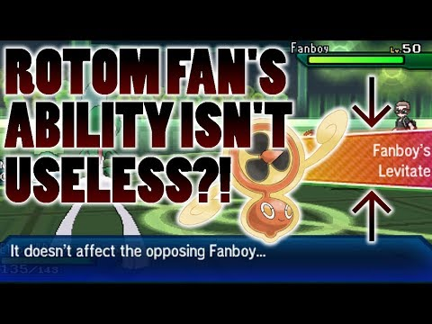connectYoutube - Rotom Fan's Ability Is Not Completely Useless?! Flying & Levitate Test In Pokemon Ultra Sun and Moon
