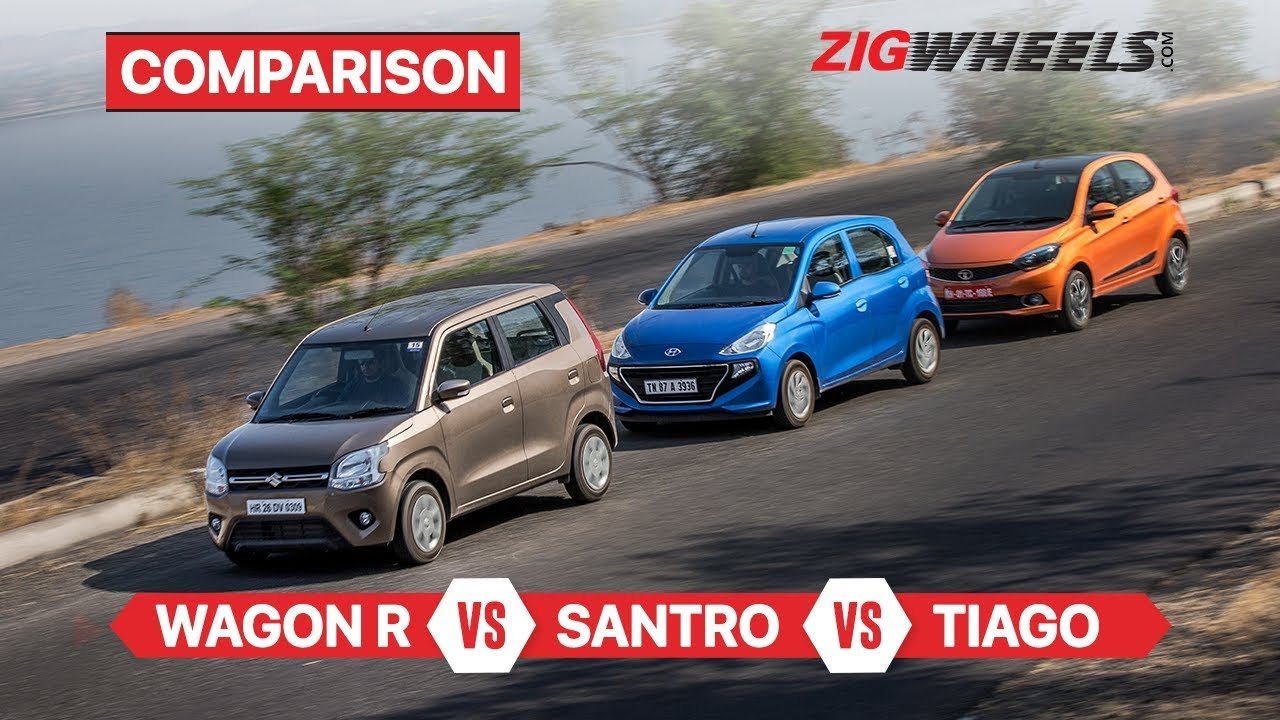 मारुति सुजुकी wagonr वीएस हुंडई सैंट्रो वीएस टाटा टियागो | कॉम्पैक्ट हैच comparison | zigwheels.com
