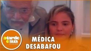 Esposa de Carlos Alberto de Nóbrega chora ao relatar ataques na internet