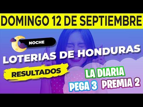 Sorteo 9PM Loto Honduras La Diaria Pega 3 Premia 2 Domingo 12 de Septiembre del 2021   Ganador