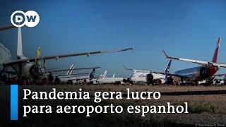 Teruel, o maior estacionamento para aviões da Europa