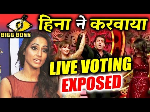 connectYoutube - OMG! Hina Khan's TANTRUM The Reason For LIVE Voting Against Shilpa Shinde | Bigg Boss 11