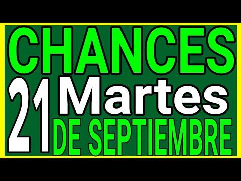 Resultado chances del día Martes 21 de Septiembre de 2021