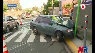 Cuatro heridos en accidente de tránsito en Pavas