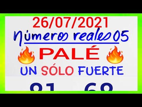 NÚMEROS PARA HOY 26/07/21 DE JULIO PARA TODAS LAS LOTERÍAS...!! Números reales 05 para hoy....!!