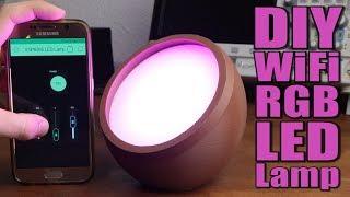 DIY WiFi RGB LED Lamp    ESP8266 & Blynk