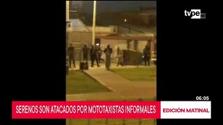 Surco: graban a serenos destruyendo mototaxis