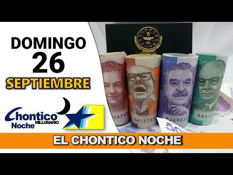 Resultado CHONTICO NOCHE del domingo 26 de septiembre de 2021