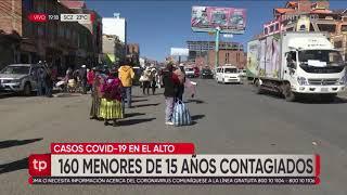 160 menores de 15 años están infectados con el coronavirus en ciudad de El Alto