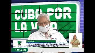 Conferencia de Prensa: Cuba frente a la COVID-19 (14 de mayo de 2021)