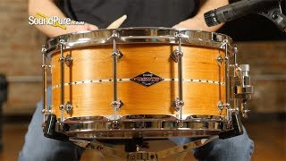 Craviotto 6.5x14 Mahogany Custom Snare Drum with Inlay BB-Quick 'n' Dirty