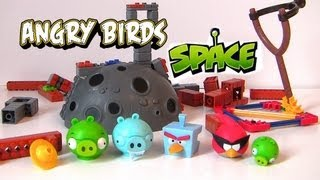 KNEX SPACE Angry Birds Ice Bird Breakdown Building Playset Build Like Lego Knex Disneycollector