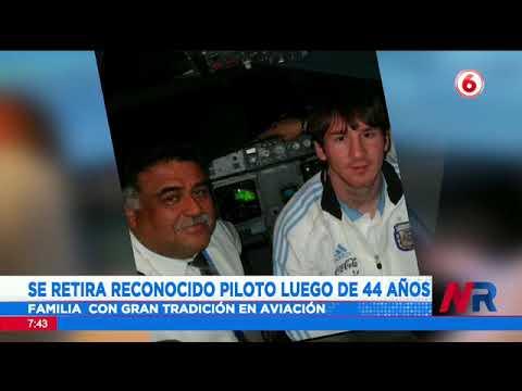 Se retira reconocido piloto luego de 44 años