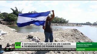 Siete detenidos en México por llevar en un camión a 76 migrantes