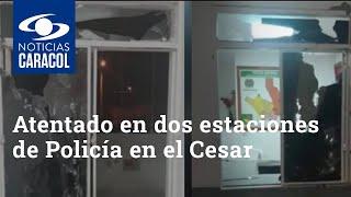 Atentado con explosivos en dos estaciones de Policía en el Cesar