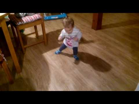 Video: Really weird walk - a baby with a rabbit! -
