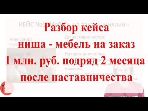 Кейс Александра, ниша мебель на заказ = 1 млн. руб. на наставничестве Константина Горбунова