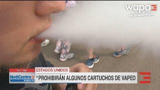 EEUU prohíbe algunos cartuchos con sabor para cigarrillos electrónicos