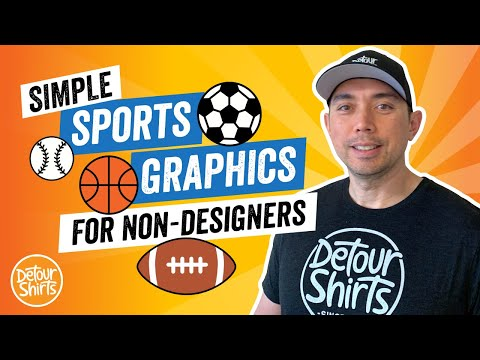 Simple Sports Graphics for Non-Designers. How to create Clipart for T-Shirts using Affinity Designer