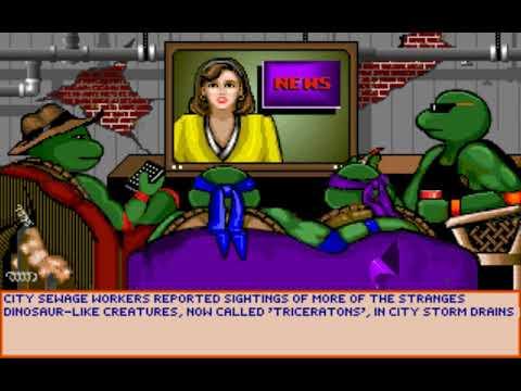Teenage Mutant Ninja Turtles: Manhattan Missions (Distinctive Software) (MS-DOS) [1991] PC Longplay
