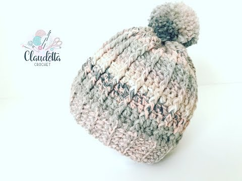 How To Crochet Easy Puff Stitch Hat Beginner Tomclip