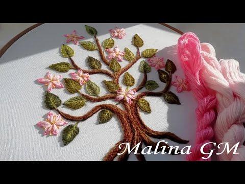 EMBROIDERY | Flower tree 🌳ВЫШИВКА| Цветочное дерево