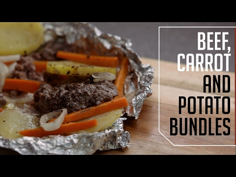 Beef, Carrot & Potato Bundles