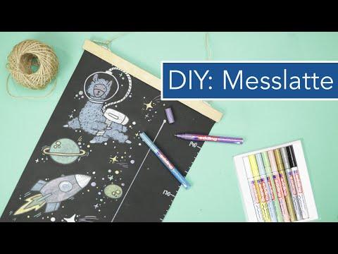 DIY Messlatte für Kinder gestalten: Lamas im Weltall |VERLOSUNG