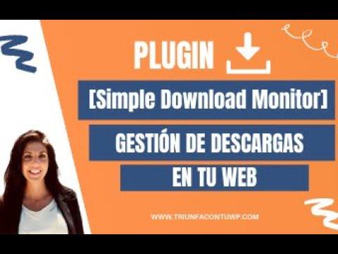 ➤ Plugin [SIMPLE DONWLOAD MONITOR] gestión de descargas en tu WEB ⤵️