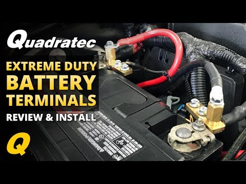 How to Install Quadratec Extreme Duty Battery Terminals for Jeep Wrangler JK in less than 5 minutes