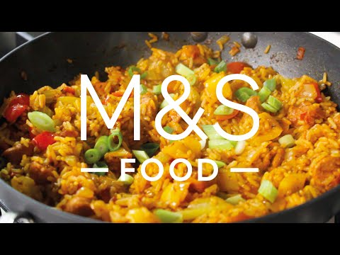 marksandspencer.com & Marks and Spencer Voucher Code video: Chris' smoky no-chorizo jambalaya | M&S FOOD